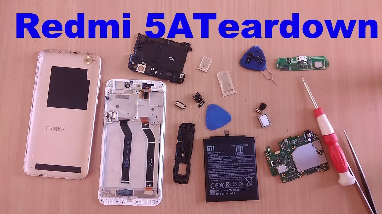 Redmi 5a Teardown Repair Replacement Part Remove Parts Electronics Bare Circuit Board For Iphone 5s Buy Battery Disassembly Mi