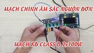 Review ClassD 100W x 2 Kết hợp với mạch chỉnh âm sắc 3 band - [Linhkienviet.vn]