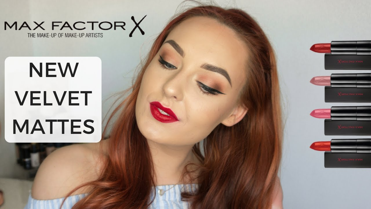Max Factor Velvet Mattes Lipstick Collection 2017 Swatches And