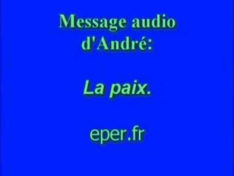 la paix, message chrétien d'André