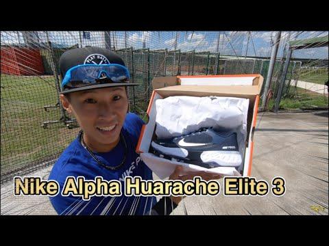 開箱 2020年款美國 Nike Alpha Huarache Elite 3
