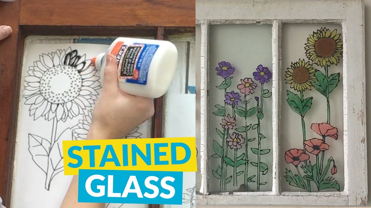 Diy stained glass youtube diy stained glass solutioingenieria Image collections