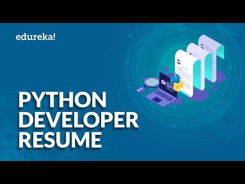 Python Developer Resume | Python Developer Skill Set, Jobs, Roles and Responsibilities | Edureka