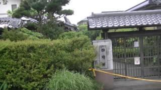 被災した横井小楠記念館(四時軒)