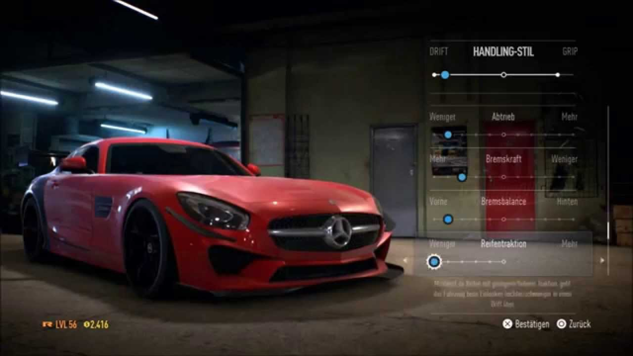 Nfs 2015 my garage mercedes amg gt full tuning 1086 hp for Garage amg auto