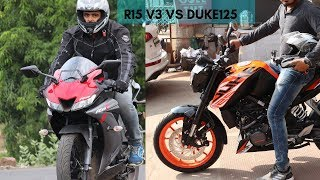 Duke 125 ABS vs R15 V3 2019.