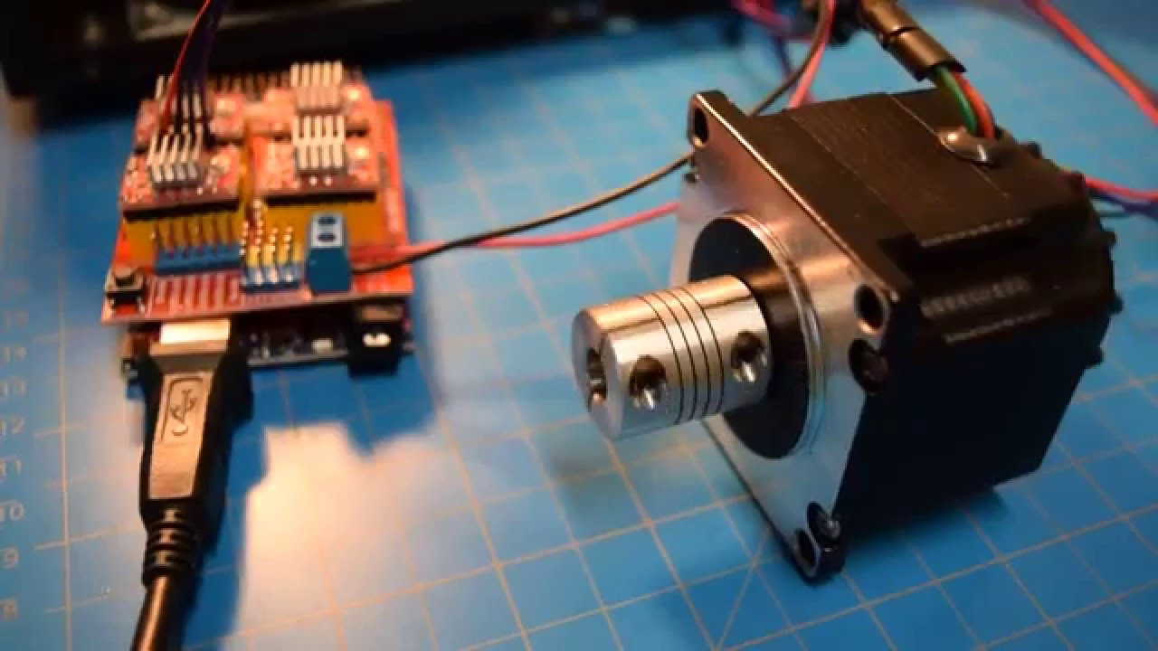 3020t with arduino cnc shield stepper test youtube for How to check stepper motor
