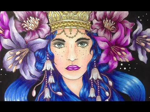 SUMMERNIGHTS - Hanna Karlzon - prismacolor pencils - color along