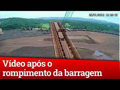 VÍDEO LOGO APÓS O ROMPIMENTO DA BARRAGEM DE BRUMADINHO - IMAGENS DA CÂMERA