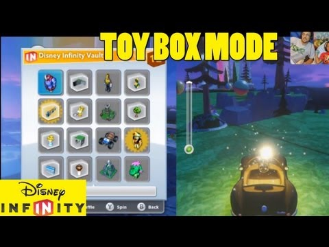 Exploring Toy Box Mode (1st Try) Part 1 - Lets Play Disney Infinity Creatively