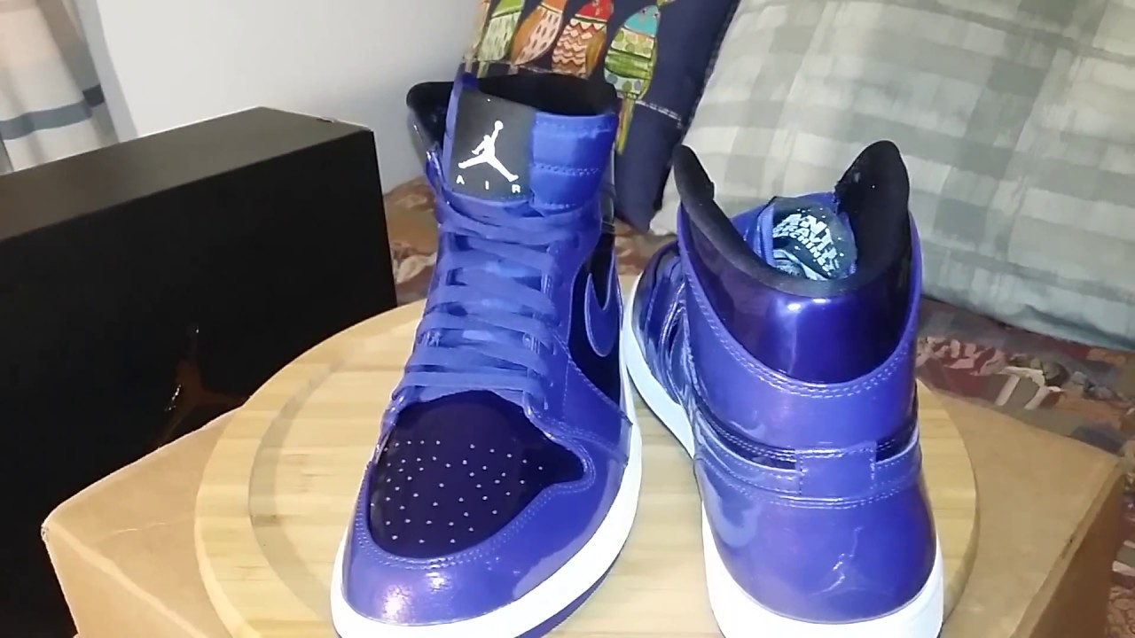 Air Jordan 1 High Deep Royal Blue (Purple) Patent Leather - YouTube a0f64f593