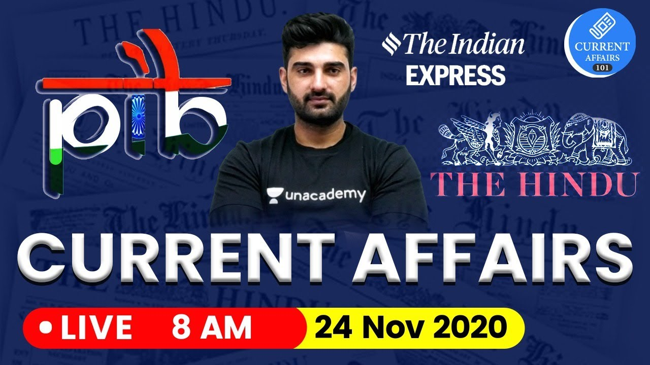 Daily Current Affairs in Hindi by Sumit Sir | 24 November 2020 The Hindu PIB for IAS
