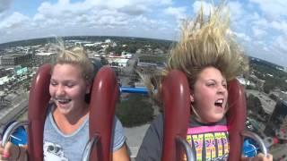 Girl passes out on slingshot