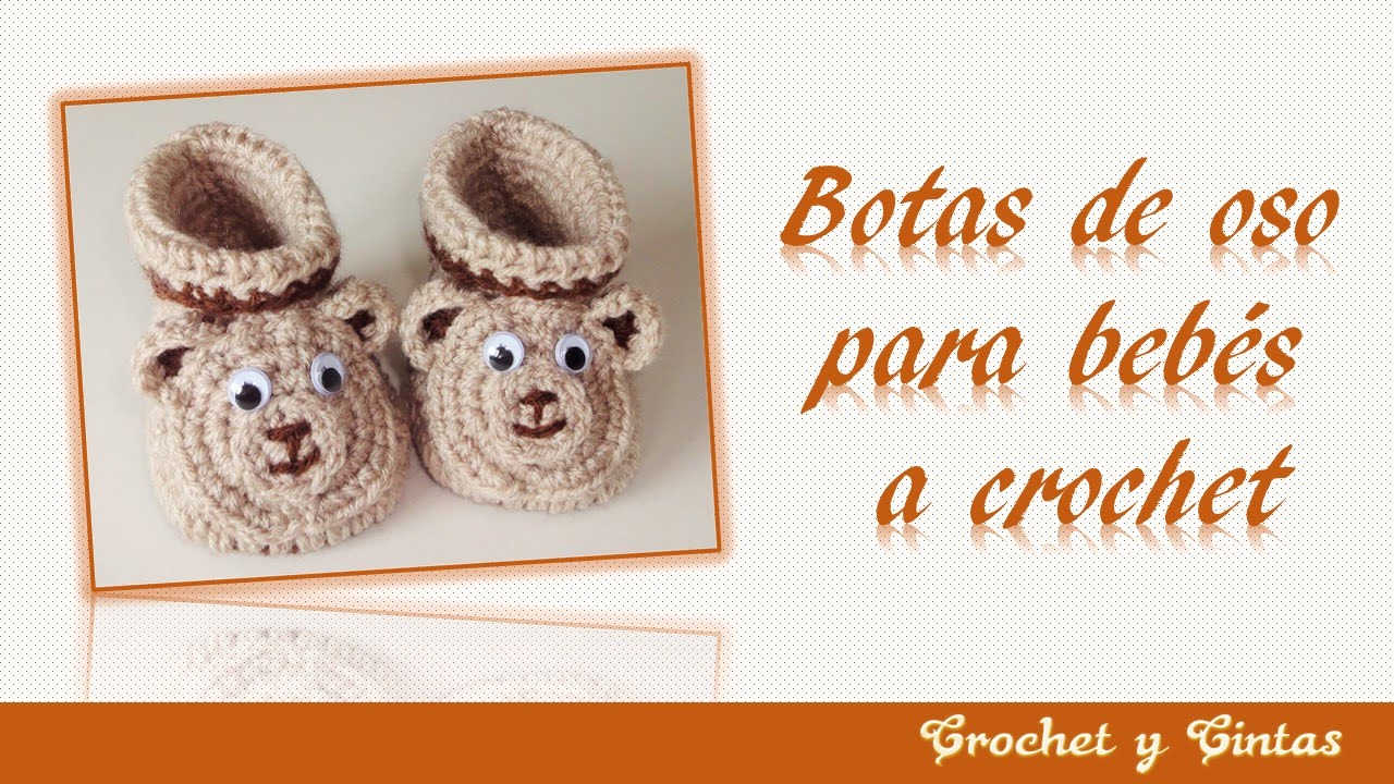 Botas 3D de oso para bebés de todas las edades tejidas a crochet ...