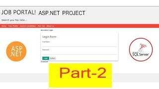 Job Portal Website in asp.net | Part-2