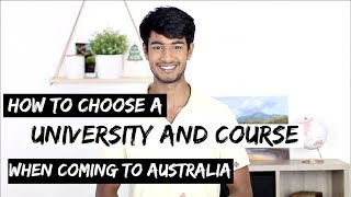 How to CHOOSE a UNIVERSITY & COURSE in AUSTRALIA | Things to consider thumbnail