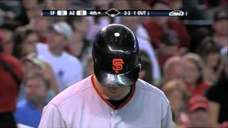 Fan hit by bat
