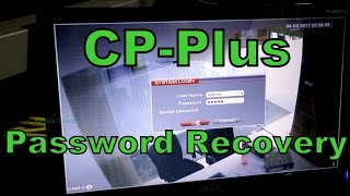 CP-Plus DVR password recovery