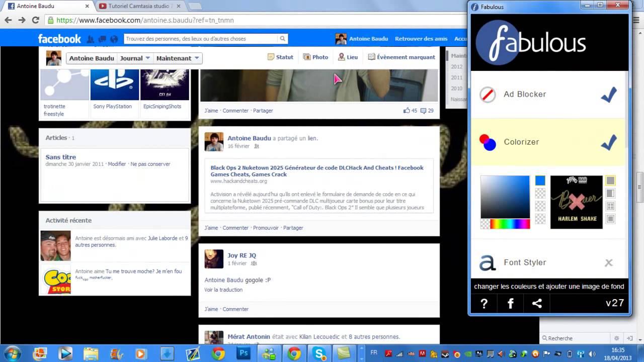 Tuto Comment Modifier Son Profil Facebook Hd Youtube