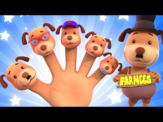The Dog Finger Family | Cartoon Videos For Children by Farmees