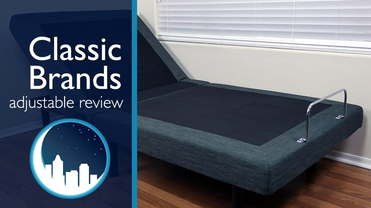 classic brands adjustable bed review youtube