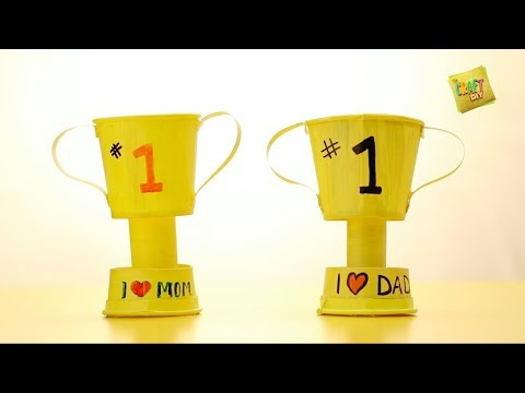 Video DIY I How To Make A Paper Cup Trophy In Hindi