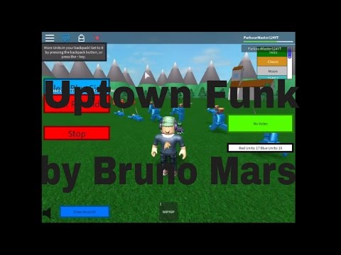 Roblox Music Id For Uptown Funk By Bruno Mars Youtube