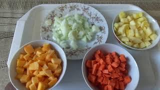 Фото Как из тыквы и кабачка приготовить вкусное рагу. Диета№5.