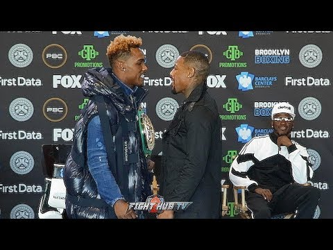 JERMALL CHARLO & WILLIE MONROE JR. GO BACK & FORTH VERBALLY AS THEY COME FACE TO FACE IN BROOKLYN