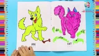 #Agugugubox Учимся рисовать Домашних животных. Раскраски для детей.