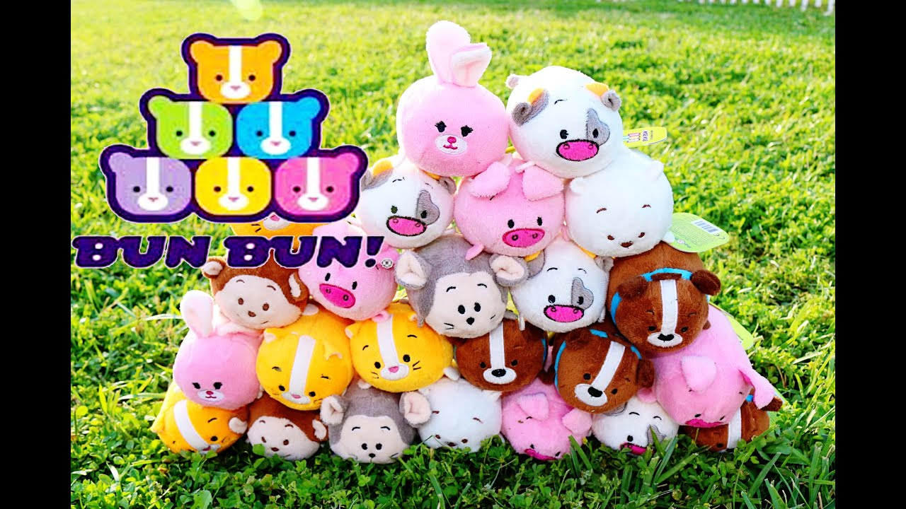 fun toys bun bun toyz stacking plush cute funny challenge video dog cow cat pig bear mouse