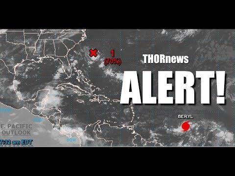 Alert! Atlantic Hurricane Beryl & possible CAT3 Hurricane Chris along East Coast USA