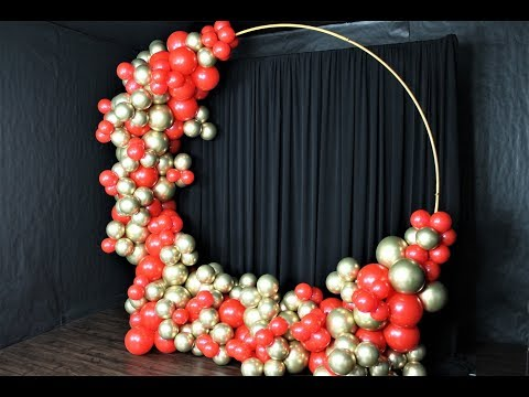 Red and Gold Balloon Garland DIY | How To | Tutorial