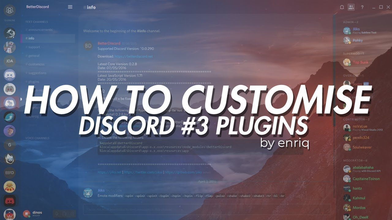 [BETTERDISCORD] How to customise your discord: #3 Plugins