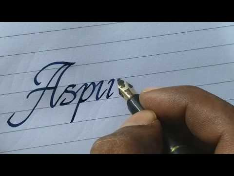 Beautiful handwriting with fountain pen | most satisfying calligraphy