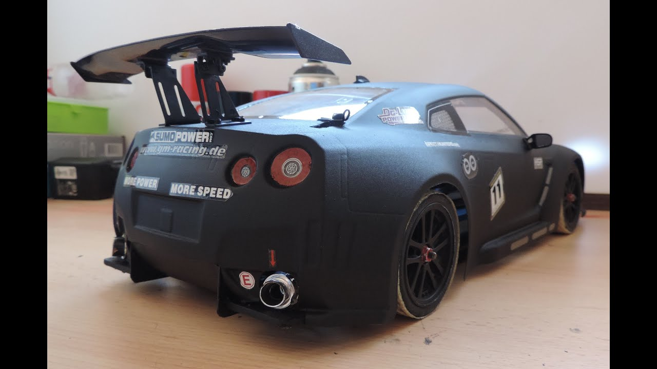 d i difusor rc tamiya nissan skyline gtr r35 sumopower paint rc real rear. Black Bedroom Furniture Sets. Home Design Ideas