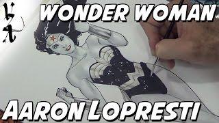 Aaron Lopresti drawing Wonder Woman