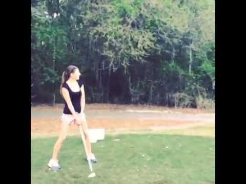 Kim DeJesus Golfing