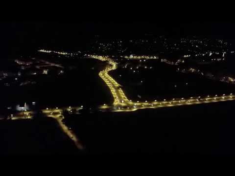 Night Landing Tangier, Morocco.