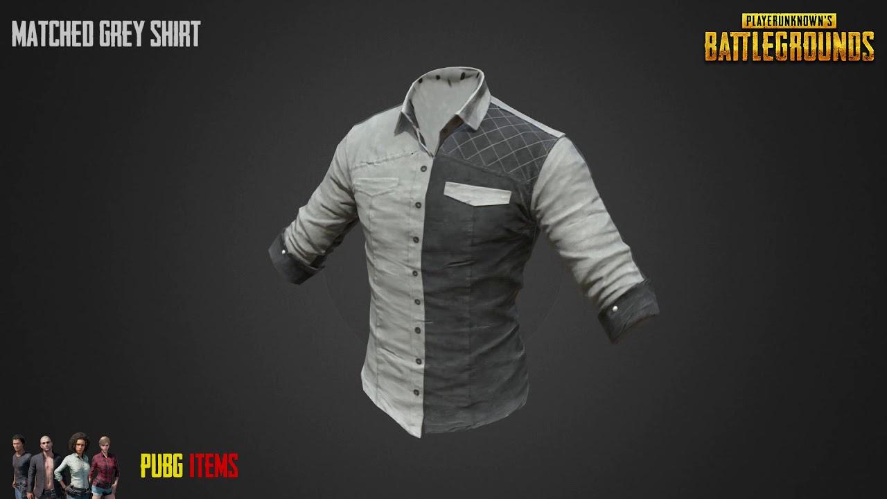 Matched Grey Shirt Pubg Item Showcase Youtube