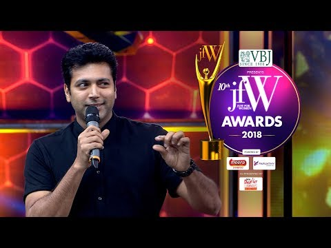 Jayam Ravi at JFW Awards 2018  |Thani Oruvan 2 will be Vera Level