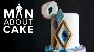 The NEW Agate Geode Cake| Man About Cake COLLAB with Rachael Teufel + Joshua John Russell