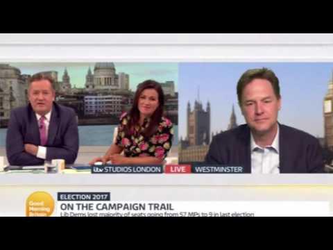 Nick Clegg vs Piers Morgan on GMB: you're so pompous!