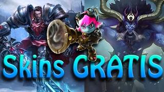 GRATIS 3 aspectos (skins) y campeones ¿Ya los tienes? - Como obtenerlos | League of Legends