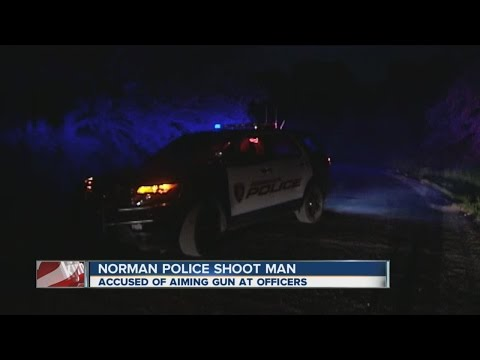 Norman police shoot man