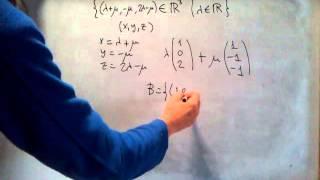 ÁLGEBRA - Cómo hallar una base de un subespacio vectorial