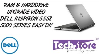 Dell inspiron 15 5000 5558 memory and harddrive upgrade how to diy easy