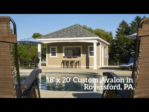 Custom Avalon Pool House Design Project in Royersford PA