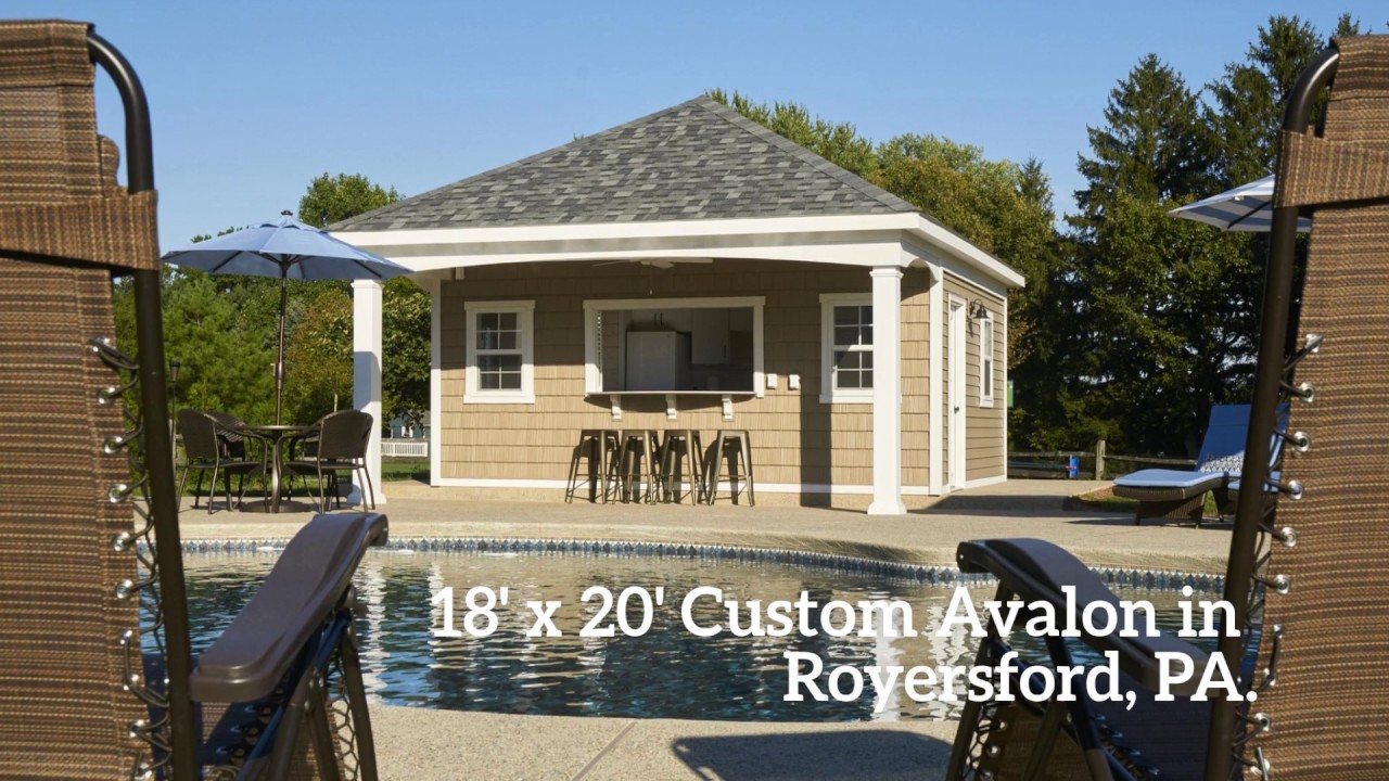 custom avalon pool house design project in royersford pa youtube