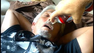 Surprise in Mouth While Sleeping! - PRANKING MY UNCLE - Jack Vale Prank